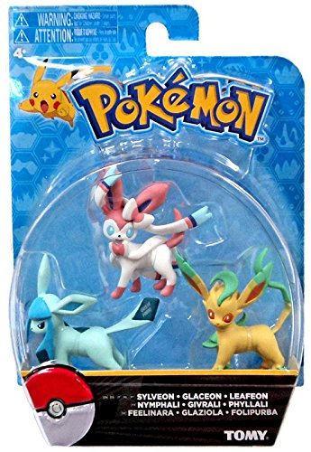 8cd2e8cc Buy Official Packaged Pokemon Eevee Eeveelutions 3 Pcs. Exclusive Figure  Set Includes: Sylveon, Glaceon & Leafeon by Hot Topic Online at Low Prices  in India ...