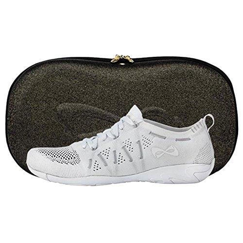 Nfinity Flyte Cheer Stunt Shoe Sneaker, White, 7.5 Regular US by Nfinity