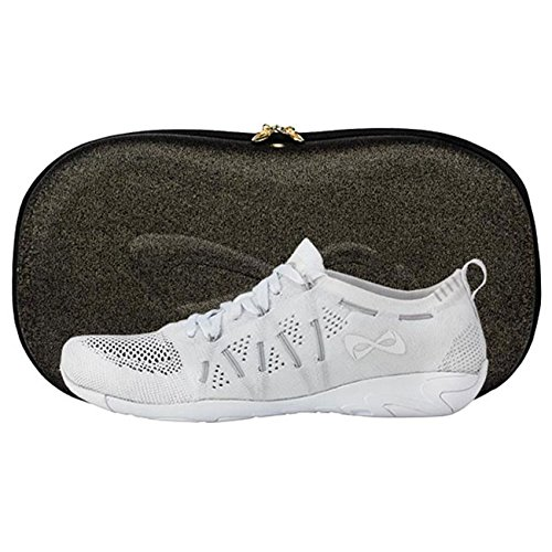 Nfinity Flyte Cheer Stunt Shoe Sneaker, White, 6.5 Regular US