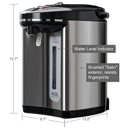 Secura Electric Water Boiler And Warmer 4 Quart Electric