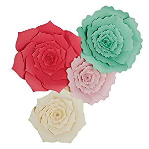 Large Lobus Apicalis Handmade Paper Flower 30cm(12 In) or 40cm(16 In)Wedding Photography Flower,Table Centerpieces,Backdrop Wall Decoration,Garlands & Parties,Home Decor,Nursery Decorations Nine Color 61