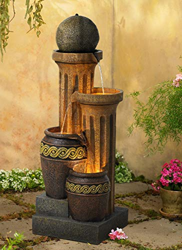 Ball Outdoor Fountain - John Timberland Outdoor Floor Water Fountain 50