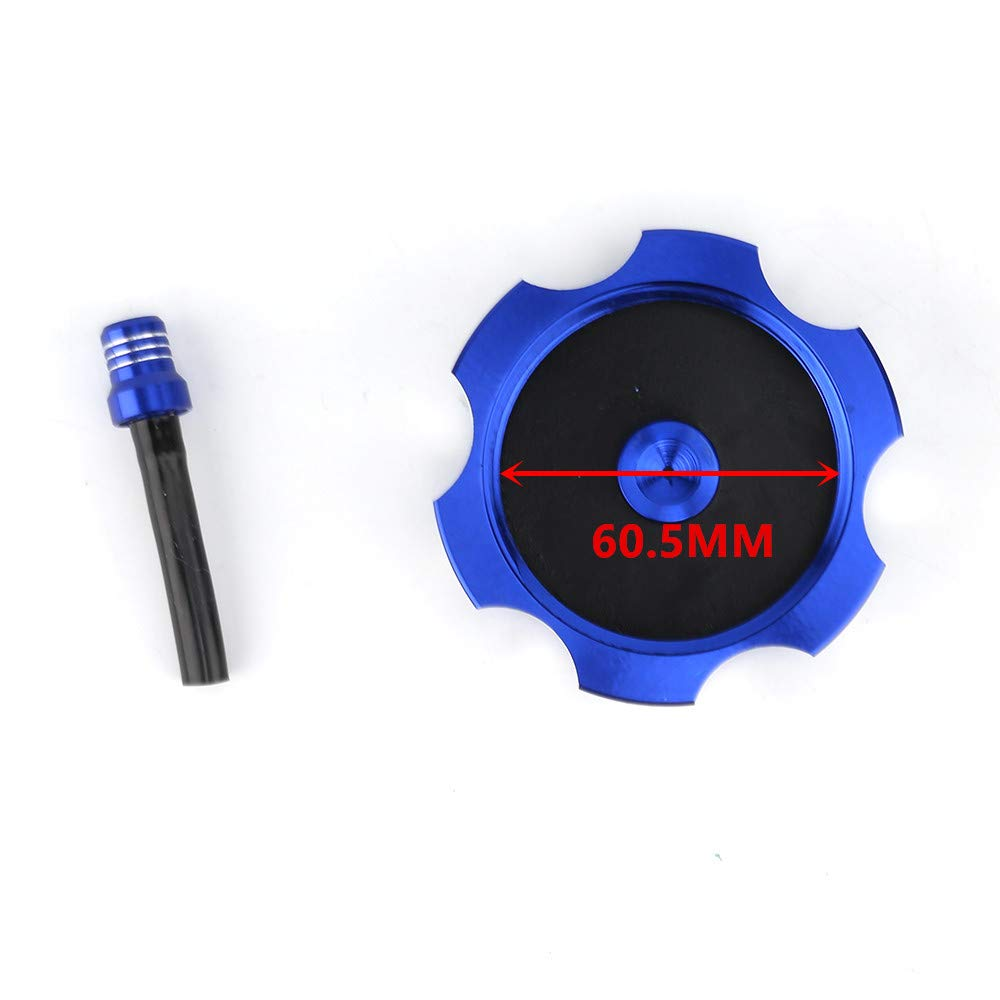 DOSON Gas Fuel Tank Cap CNC Blue With Breather Valve Aluminum For HONGDA XR,CRF TRX Motorcycle Bike