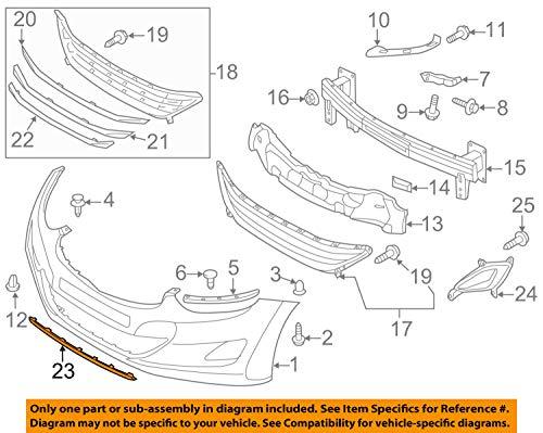 HYUNDAI OEM 14-16 Elantra Front Bumper-Spoiler Lip Chin Splitter 865913Y500
