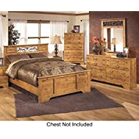 Bittersweet Queen Bedroom Set with Panel Bed Dresser and Mirror in Light Brown