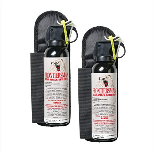 (SABRE Frontiersman Bear Spray 7.9 oz (Holster Options & Multi-Pack Options) - Maximum Strength, Maximum Range & Greatest Protective Barrier Per Burst! - Effective Against All Types of Bears)