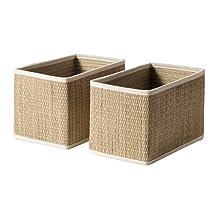 IKEA Salnan Basket, Seagrass (Pack of 2) (25*16*16)