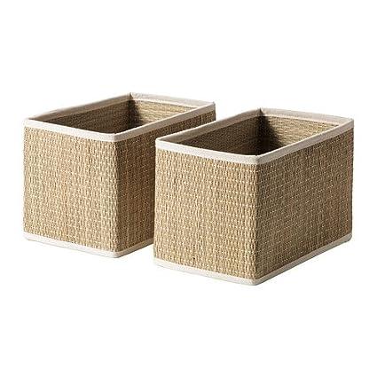 IKEA SALNAN - cesta, junco/ , 2 paquete/ , 2 - 25 x