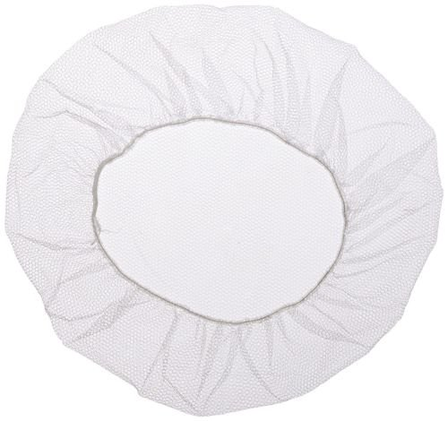 Shield Safety 18''~21'' Nylon Hair Net Cap White for Medical Food Service Pack of 1000 (18'' White)
