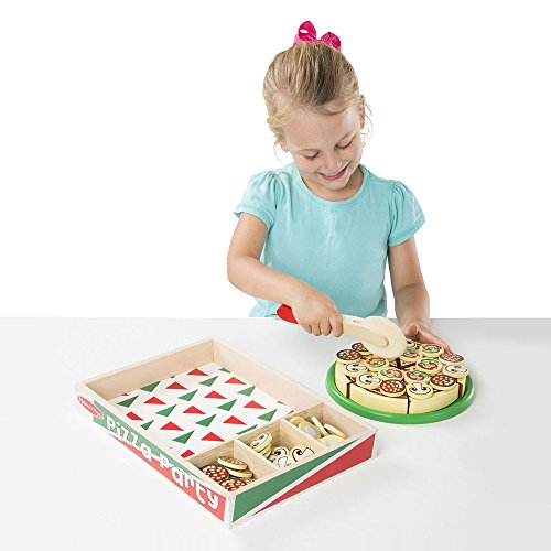 Melissa & Doug Pizza Party Wooden Play Food Set With 54 Toppings by Melissa & Doug (Image #1)