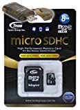 8GB Class 10 MicroSDHC Team High Speed 20MB/Sec Memory Card. Blazing Fast Card For Garmin NUVI 1450 1690 fone G60. A free High Speed USB Adapter is included. Comes with Lifetime Warranty.