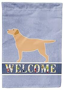 """Caroline tesoros del bb5501gf """"amarillo Labrador Retriever"""" tamaño del jardín bienvenida bandera, pequeña, Multicolor"""