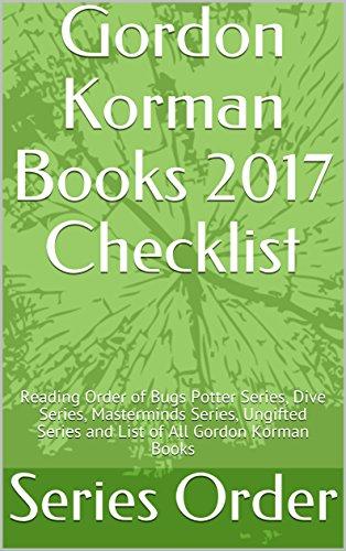 Amazon gordon korman books 2017 checklist reading order of gordon korman books 2017 checklist reading order of bugs potter series dive series fandeluxe Images