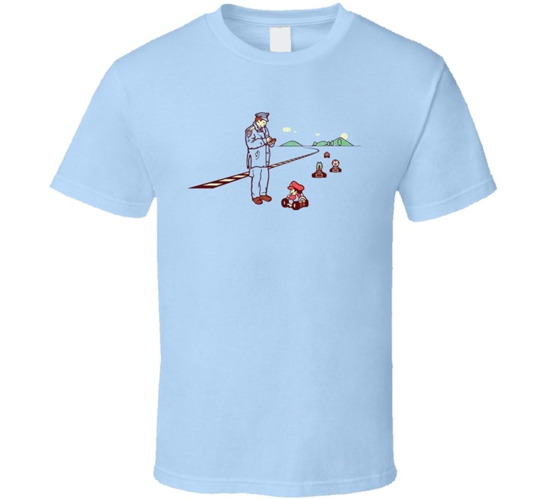 Mario Kart Speeding Ticket Funny Cartoon T Shirt