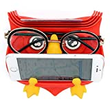 WB. Multifunction Silicone Dashboard Anti-Slip Phone Holder,Pad Stands Dash Mat Car Mount Holder, Cell Phone Cradle Dock, GPS Mount Cute Owl Design, As A Gift To Friend Or Families (Red)