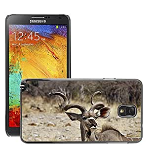 Etui Housse Coque de Protection Cover Rigide pour // M00108775 Kudu Buck Cuerno Namibia Animal // Samsung Galaxy Note 3 III N9000 N9002 N9005