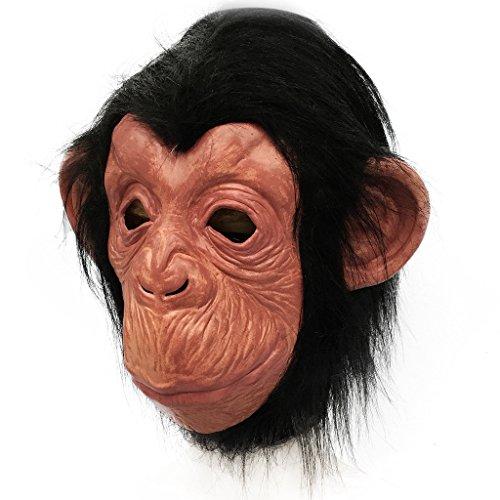 Waylike Monkey Chimp Gorilla Mask Halloween Costume Latex Orangutan Animal Mask