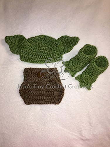 Amazon Crocheted Handmade Baby Newborn Star Wars Yoda Inspired