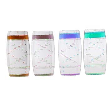 Perfeclan Creativo Cuadrado Flotante Aceite líquido burbujeante Movimiento Temporizador Hora Escalera de Vidrio: Amazon.es: Juguetes y juegos