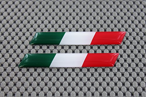 "Italia Flag Ducati Aprilia Decal Sticker Pair 3"" X 0.5"""