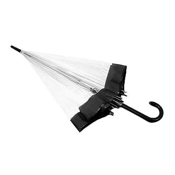 Paraguas de cúpula Transparente, Paraguas Transparente de plástico Lovely Rain Sunny Women Girls Paraguas de