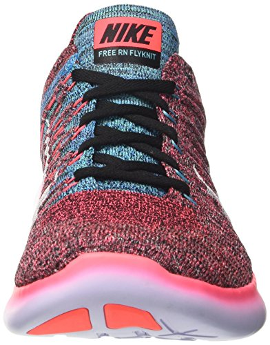 Nike Mens Free Rn Flyknit 2017 Scarpa Da Corsa Hot Punch / Bianco-nero