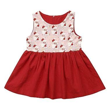 Amazon.com: Vestido de Navidad para bebés y niñas, sin ...