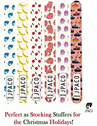 12 PCS Professional Cute Nail Files - 120/240 Grit Size (New & Improved)