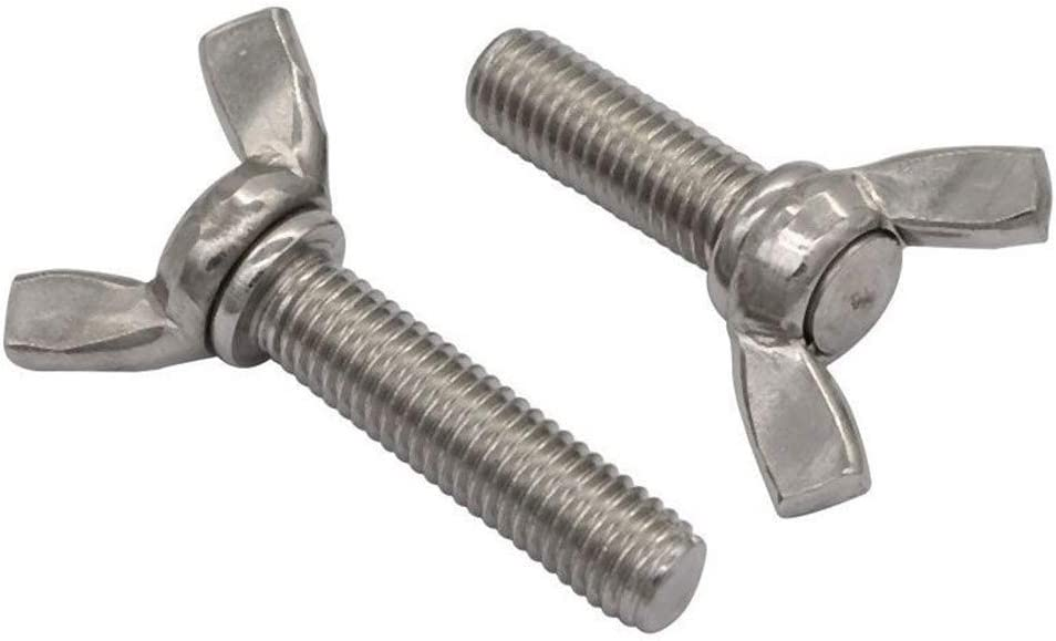 Tap Bolts M4 M5 Wing Screws 304 Stainless Steel Butterfly Screw DIN316 Butterfly Bolt M4//M56//8//10//12//16//20//25//30//35//40//45 Screws Size : M5x70 2pcs