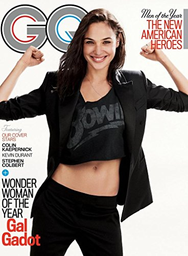 GQ Magazine (December, 2017) Men of The Year Issue Gal Gadot Cover