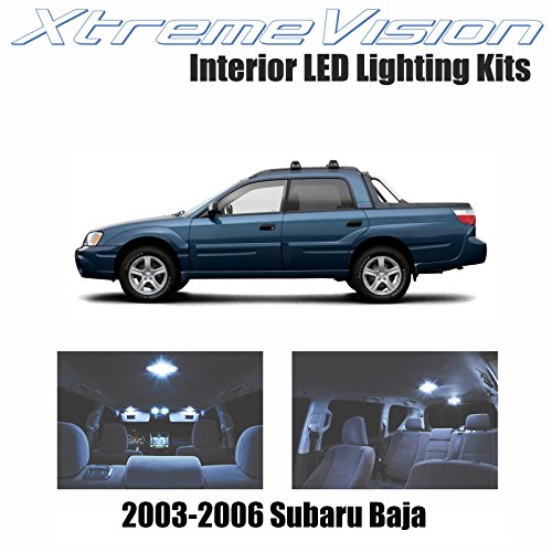 XtremeVision Subaru Baja 2003-2006 (5 Pieces) Cool White Premium Interior LED Kit Package + Installation Tool