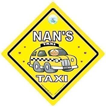 Amazon.com: BABY iwantthatsign.com Nan Taxi, Nans Taxi Car ...