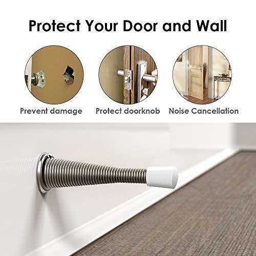 Door Stopper, 12 Pack Door Stop, 2019 Upgraded Wall Decorative Door Stopper Rubber Bumper-Childproof,Noise Cancellation, 3 ⅛