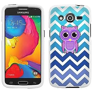 Samsung Galaxy Avant Chevron Teal Blue Owl Case