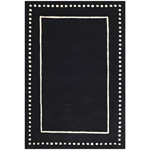 Safavieh Bella Collection BEL151E Handmade Black and Ivory Premium Wool Area Rug (8' x 10')
