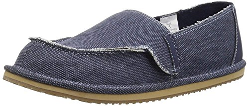 The Children's Place Boys' BB Slipon Deck Slipper, Navy, Youth 11 Medium US ()