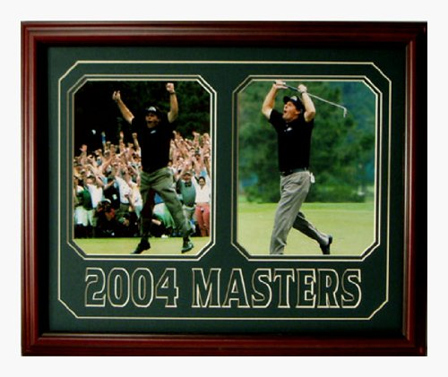 Phil Mickelson 2004 Masters double 8x10s framed