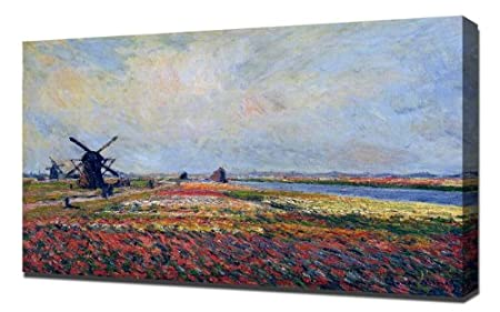 Kitchen Art Leiden.Monet Fields Of Flowers And Windmills Near Leiden 1886 Framed