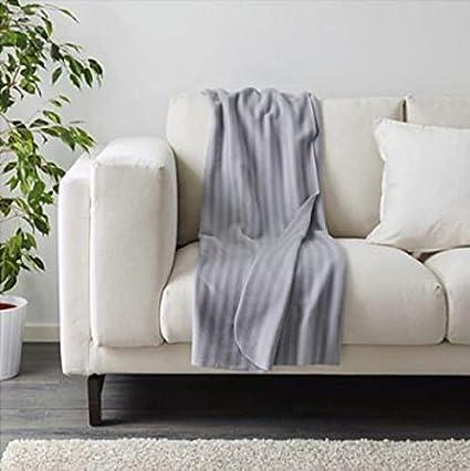 Manta Sofa Ikea.Ultima Nuevo Ikea Manta Vitmossa Gris 120 X 160 Cm Amazon