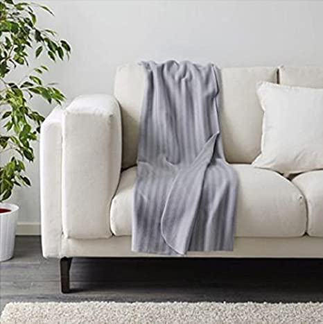 Última nuevo IKEA manta vitmossa gris 120 x 160 cm: Amazon ...