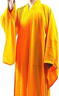 DH-Link Shaolin Kung Fu Monje Budista meditación Túnica Largo ...