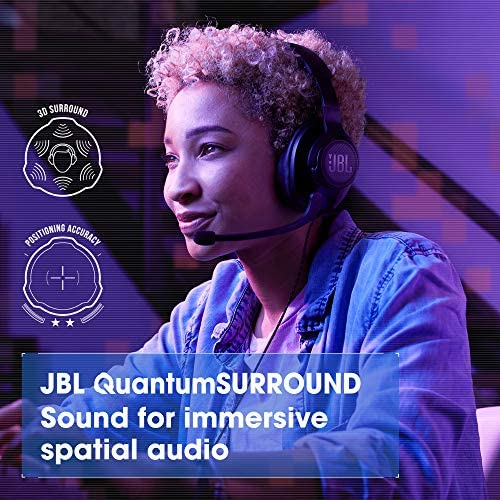 JBL Quantum 300 - Wired Over-Ear Gaming Headphones with JBL Quantum Engine Software - Black