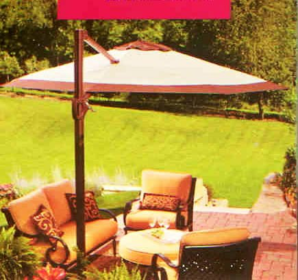 Offset 11ft Umbrella Replacement Canopy For Sale