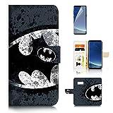 ( For Samsung S8 , Galaxy S8 ) Flip WalletFlip Wallet Case Cover & Screen Protector Bundle! A8183 Batman Super Hero