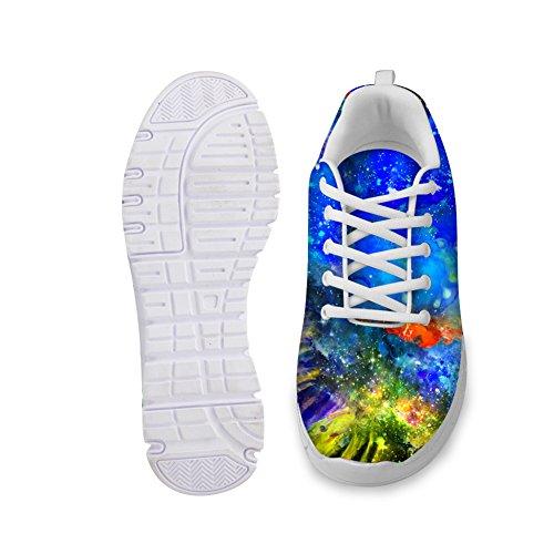 Knuffels Idee Schilderij Ontwerp Damesmode Casual Sneakers Lichtgewicht Loopschoenen Galaxy 6