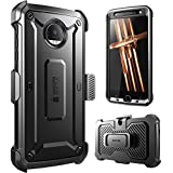 Moto Z Droid Case Supcase Full body Rugged Holster Case With Built in Screen Protector 2016 Release Not Fit Motorola Moto Z Force Droid Moto Z Play Unicorn Beetle Pro Series Black Black