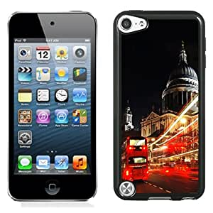 Beautiful Unique Designed iPod Touch 5 Phone Case With London St Paul Cathedral Double Decker_Black Phone Case