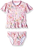 Seafolly Baby Little Girls' Prairie Rashie Set, Ballet Pink, 2