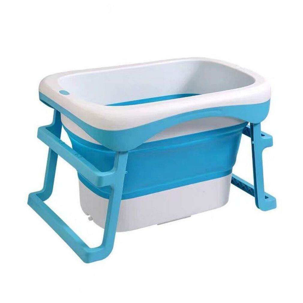 QZ 赤ちゃんの浴槽 大型プラスチック新生児 折りたたみ式 デラックスウォッシュバス (Color : Blue10)  Blue10 B07TXBBF47