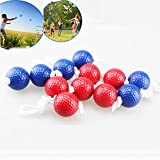 Taihemingna Replacement Ladder Golf Ball Toss Bolas Set 6 Pairs,Indoor Outdoor Games for Adults and Kids(3 Pairs Blue and 3 Pairs red)